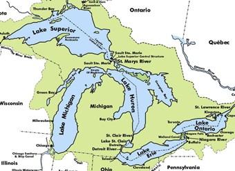 Cartina Fiumi Usa.I Grandi Laghi Del Nord America Global Geografia
