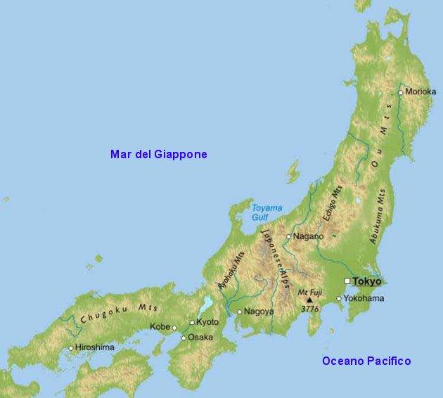 Cartina Muta Giappone.Honshu Giappone Global Geografia