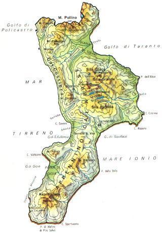 Regione Calabria Cartina Politica.Calabria Scheda Regione Global Geografia