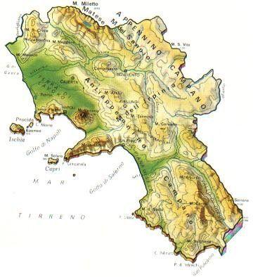 Cartina Geografica Politica Campania.Campania Scheda Regione Global Geografia