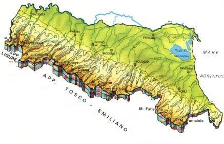 Cartina Italia Fisica Emilia Romagna.Emilia Romagna Scheda Regione Global Geografia