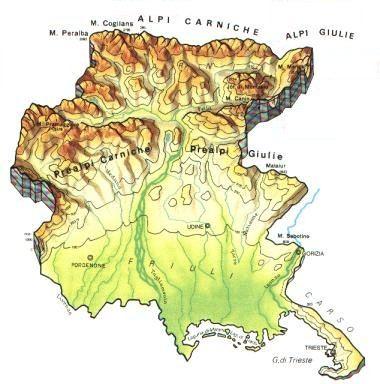 Cartina Friuli Venezia Giulia Da Stampare.Friuli Venezia Giulia Scheda Regione Global Geografia