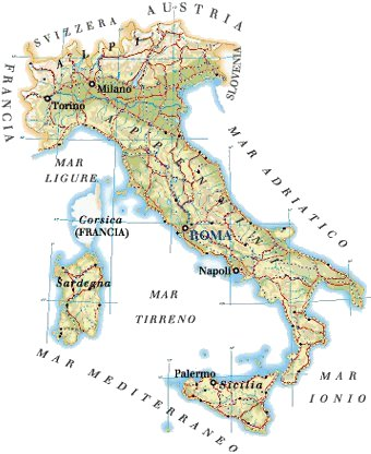 Cartina Dell Italia Divisa Per Regioni.Italia Regioni E Dati Geografici Global Geografia
