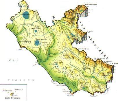 Cartina Italia Monti E Fiumi.Lazio Scheda Regione Global Geografia