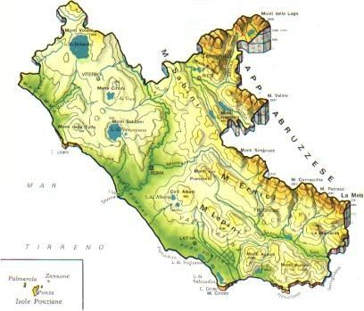Cartina Fisica Lazio Da Stampare.Lazio Scheda Regione Global Geografia