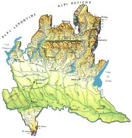 La Lombardia Cartina Fisica.Lombardia Scheda Regione Global Geografia