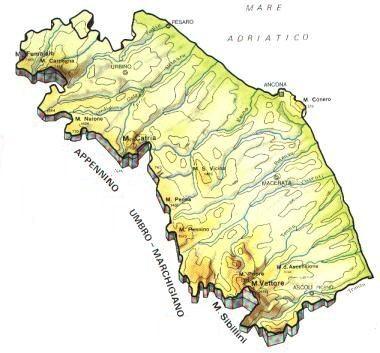 Cartina Fisica E Politica Delle Marche.Marche Scheda Regione Global Geografia