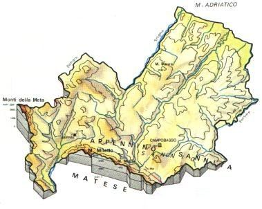 Regione Molise Cartina Fisica.Molise Scheda Regione Global Geografia
