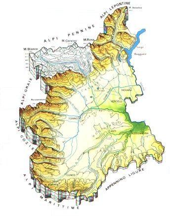 Cartina Fisica E Politica Del Piemonte.Piemonte Scheda Regione Global Geografia