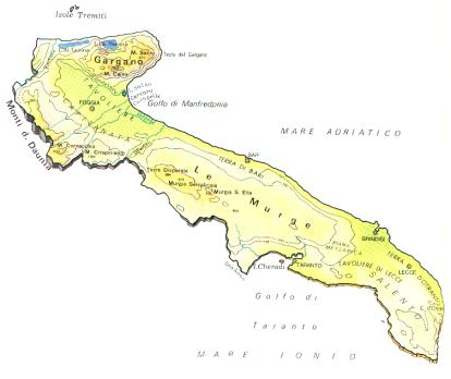 Cartina Geografica Fisica Puglia.Puglia Scheda Regione Global Geografia