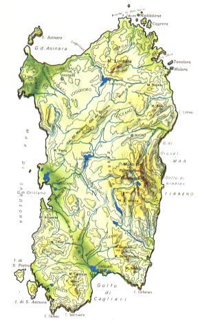 Cartina Montuosa Sardegna.Sardegna Scheda Regione Global Geografia