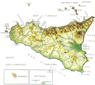 Cartina Sicilia Grande.Sicilia Scheda Regione Global Geografia