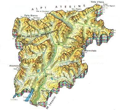 Trentino alto adige scheda regione globalgeografia for Monti del trentino